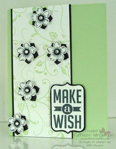 Flowering Flourishes, Petite Petals and Perfect Pennants Birthday Card - Stampin' Up!