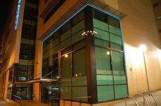 """Derwent House Sheffield UK 1"""" Natural Blue Light Tape http://www.lighttape.co.uk"""
