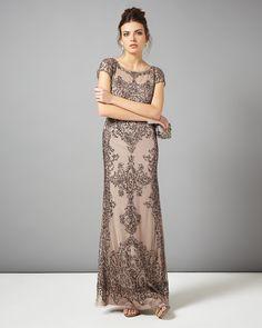 collection 8 dresses | Metallics Zita Embellished Full Length Dress | Phase Eight