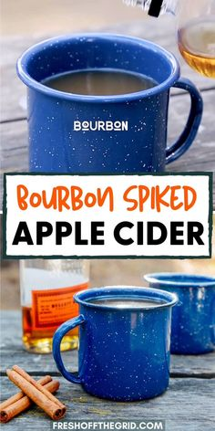 Spiked Apple Cider, Apple Cider Cocktail, Bourbon Drinks, Bourbon Cocktails, Camping Drinks, Camping Menu, Jeep Camping, Camping Ideas, Summer Drink Recipes