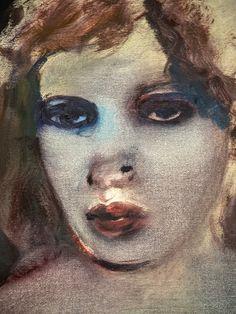 Marlene Dumas: verf en krijt. Hoe: grof tekend grote vlakken