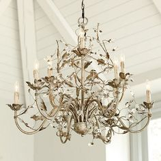 Every girl needs a pretty chandelier!  9-Arm grande Claire chandelier by Ballard Designs