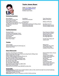 Dance Resume Sample Image Jobs In 2019 Dance Resume Resume