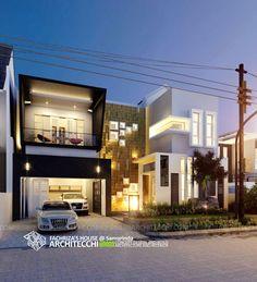 Desain Rumah Minimalis Modern 2 Lantai Fachriza House | Lebar 15 meter | #Arsitek #DesainRumah #MinimalisModern #Architecchi