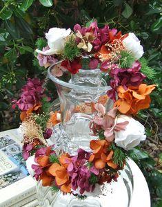 63f0e74b1db88 Corona de flores liofilizadas para la Primera Comunión