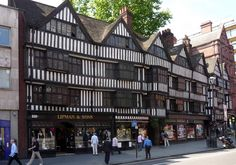 Rare survivors of The Great Fire of London: Tudor buildings in Chancery Lane.