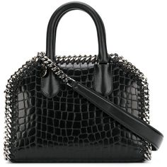 Stella McCartney Falabella box cross body bag ($1,265) ❤ liked on Polyvore featuring bags, handbags, shoulder bags, black, leather crossbody purse, leather crossbody, faux leather purses, mini crossbody purse and leather shoulder handbags