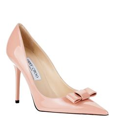 Jimmy Choo pink heels with bow... with pencil skirt- wow!!
