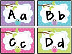 Polka Dot Owl Word Wall Labels product from ThinkShareTeach on TeachersNotebook.com