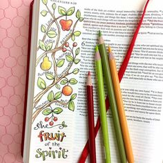 I love how this Bible journaling page turned out... so full of color and joy! For this one I used my Psalm 1 Tree coloring pages as a traceable and simply slipped the printed art under the page and traced only the portion I wanted! So fun!