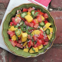 Mango-Tomato Salsa | Fresh mangoes help balance the spiciness in this classic Mexican recipe.