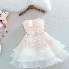 Cute A Line Sweetheart Spaghetti Straps Blush Short Homecoming Dresses with Appliques - Prom Dresses Design Cute Prom Dresses, 15 Dresses, Elegant Dresses, Beautiful Dresses, Fashion Dresses, Dresses Online, Junior Dresses, Wedding Dresses, Teen Homecoming Dresses