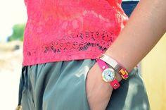 Mi Vestido Azul |Fashion Blogger | Coral lace top | http://mivestidoazul.com