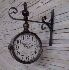 161a6468309 Relógio Parede Estação Vintage Retrô Old Town 1863 - R  158