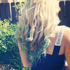 Blue ends for summer DIY with chalk.