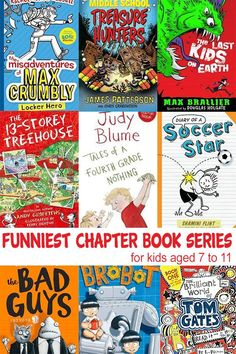 A fabulous list of humorous books for kids aged years. Including graphic novels, illustrated chapter books and more traditional style novels, this is a great collection of series& for school aged kids. Books For 7 Year Old Boys, Book Series For Boys, Funny Books For Kids, Kid Books, Captain Hook, Raggedy Ann, Winnie The Pooh, Read Aloud Books, Books