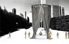 Image 7 of 27 from gallery of Chicago Architecture Biennial Announces Lakefront Kiosk Winners. Courtesy of The Chicago Architecture Biennial Contemporary Architecture, Architecture Design, Interesting Buildings, Paros, Kiosk, Competition, City, Gallery, Chicago Usa