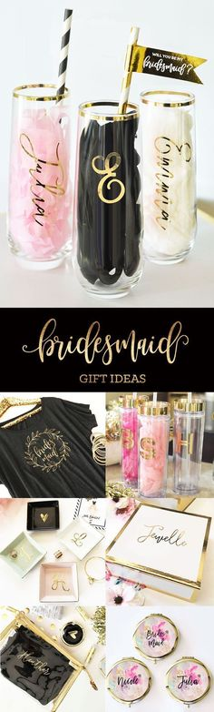 Bridesmaid Gifts from Bride | Bridesmaid Gift Ideas | Bridal Party Gifts | Bridal Party Ideas::