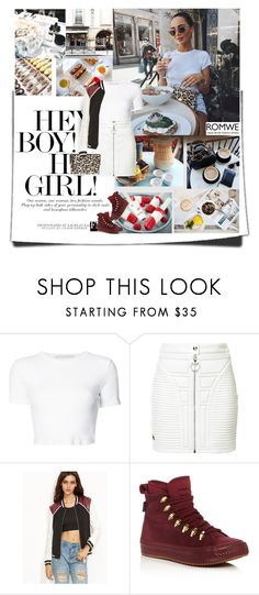 """""""Come Hang"""" by trudith ❤ liked on Polyvore featuring Rosetta Getty, Philipp Plein, Converse, MANGO and Balmain"""