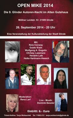 Wer eine ganze Reihe Oldigor-Autoren erleben möchte, hat am 26. September 2014 in Schleswig-Holstein Gelegenheit dazu... https://www.facebook.com/events/695025790586326