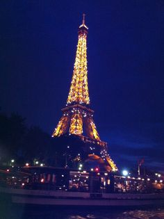 Top Romantic Experiences Around the World: Cruise down the Seine at night and see the Eiffel Tower light up http://travelblog.viator.com/top-romantic-experiences-around-the-world/ #travel