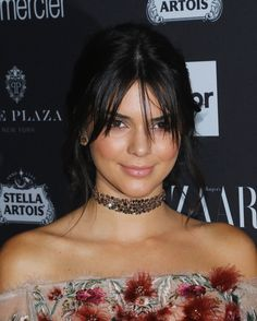 inspiration coiffures cheveux franges stars kendall jenner