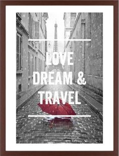 Red Umbrella in Paris Framed Print, Brown, Contemporary, White, White, Single piece, 24 x 36 inches, White