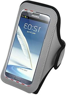 """myLife Rocky Slope Gray {Rain Resistant Velcro Secure Running Armband} Dual-Fit Jogging Arm Strap Holder for Sony Xperia Z2 and Z3 """"All Ports Accessible"""" myLife Brand Products http://www.amazon.com/dp/B00ULYSMDW/ref=cm_sw_r_pi_dp_eHbjvb0WD1FBK"""
