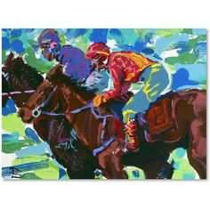 Trademark Fine Art Inside Track Canvas Art by Lowell S.V. Devin, Size: 14 x 19, Multicolor