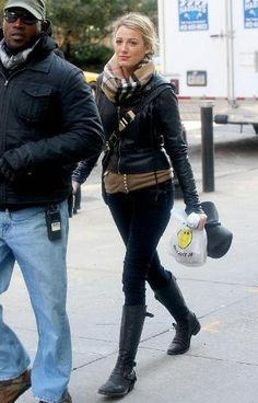 Blake Lively in the J Brand 912 pencil leg