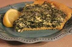 Spinach and Feta Pie from My Table of Three Blog - Low-carb, Gluten-free, THM_S