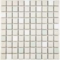 SomerTile 11.75x11.75-inch Scholar White Porcelain Mosaic Floor and Wall Tile (Case of 10) - Free Shipping Today - Overstock.com - 17445634 - Mobile