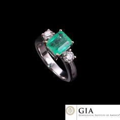 RRV $9103 - GIA 18ct Two Tone Gold, 2.19ct Emerald & Diamond Ring