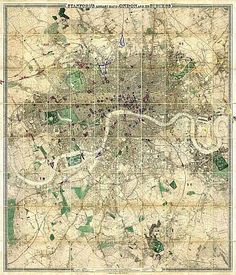 Stanford's Library Map Of London And Its Suburbs 1864; Showing All The Proposed Metropolitan Railways and Improvements.