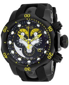 Invicta Men's Chronograph Reserve Venom Black Polyurethane Strap Watch 54mm 14459 - Men's Watches - Jewelry & Watches - Macy's