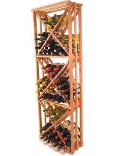 """The Advantage Series Diamond Bin Rack From WineRacks.com.    Starts at $190.00    Dimensions: 72""""h x 24 1/4""""w x 10 3/4""""d    Advantage Series bin rack stores 120 bottles inside the rack and can store cases on top."""