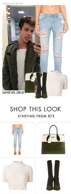 """""""Shopping with Cameron"""" by lovers-of-one-direction ❤ liked on Polyvore featuring OBEY Clothing, Louis Vuitton, Rachel Comey, YEEZY Season 2, CameronDallas, loversofonedirectionoutfits and without1D"""