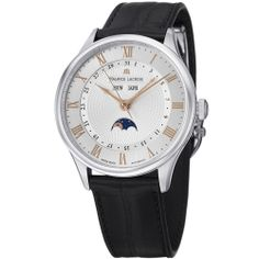 Maurice Lacroix Men's 'MasterPieceTraditional' Silver Dial Watch | Overstock.com Shopping - Big Discounts on Maurice Lacroix Maurice Lacroix...