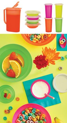 Refrigerator Pitcher, Large Bell Tumblers & Tupperware® Classic Cereal Bowls. Day brighteners for magic mornings. Available through September 9, 2016.