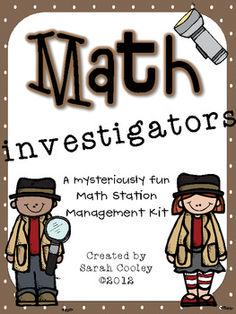 Math Investigators: A Math Station Management Kit
