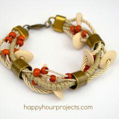 Ceramic Bead Layered Bracelet