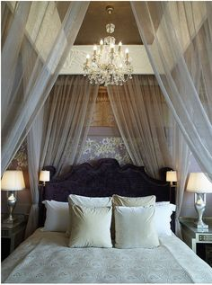 DIY canopy bed. i want a canopy bed so bad it reminds me of one from our honeymoon in italy