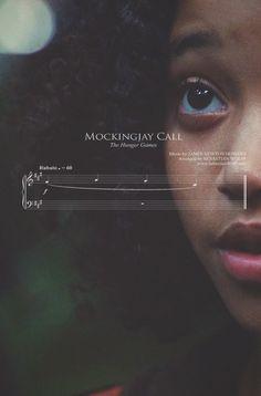 braidsandarrows:    The Hunger Games sheet music - Mockingjay Call (Rue's theme)