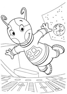 Uniqua Flying Coloring Page