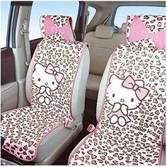 ganpi-Leopard Leopard Printing Seat Covers-Bottom Car Seat Cushion Pad,Single Piece