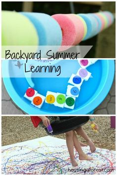 Backyard Summer Learning ~ lots of fun ideas for learning with your kids this summer.