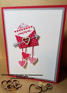 A swinging Valentine! with Stampin' Up's Sealed With Love ~ by Kristal Morfield, The Paper Craft Tree A swinging Valentine! with Stampin' Up's Sealed With Love ~ by Kristal Morfield, The Paper Craft Tree Valentines Day Cards Handmade, Valentine Crafts, Valentine Nails, Valentine Ideas, Valentine's Cards For Kids, Homemade Cards, Stampin Up Cards, Making Ideas, Holiday Cards