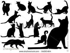 Декор предметов Интерьер Вырезание Силуэтные котики и не только Бумага фото 27
