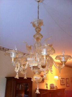 Huge vintage hand blown murano glass chandelier murano glass artistic worked exclusively by hand with the ancient art of masters from visit our web site it to see or buy online our creations mozeypictures Images