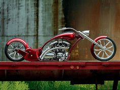 nice shinny red motorcycle